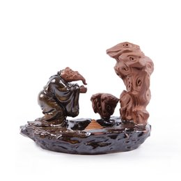 Wholesale Hot Red Clay Hand engraved Incense Burner Seat Classic Story Mifu Apprentice Stone Aromatherapy Stove Censer Home Decors Craft order lt no t