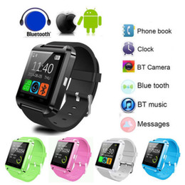 Wholesale Colorful U8 Bluetooth Smart Wrist Watch U Watches Altimeter sleep monitor Smartwatch Wristwatch For iPhone Samsung HTC Sony Cell Phones