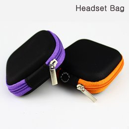 Wholesale Earphone in ear Hard Case hedset earphone bag case Fit for usb cable cord earphone bluetooth earphone iphone Samsung Nokia earphone case