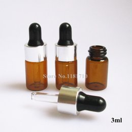 Wholesale ml Essential Oil Botttles with Dropper Sample Glass Vials Amber Glass Dropper Bottle with Latex