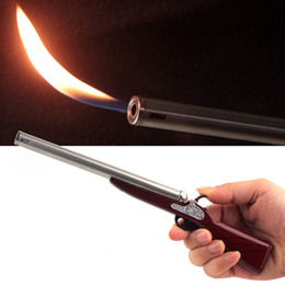 Candlelight Long Cigarette Cigar Butane Gas BBQ Kitchen Rifle Gun Model Lighter