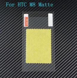 Pantallas digitales en venta-Teléfono móvil helada antideslumbrante del protector de la pantalla huella digital anti mate del protector de la pantalla para HTC uno M8 ninguna caja al por menor