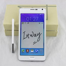 Wholesale 5 inch Note SM N9100 MTK6582 Quad Core Smartphone Android4 Unlocked MP camera HD pixels GB Ram GB Rom free ship