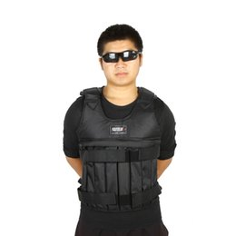 Wholesale Adjustable Weighted Vest Max Loading kg Weight Jacket Exercise Boxing Training Waistcoat Fitness Equipment for Sanda sparring Y0107