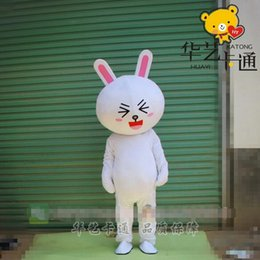 Wholesale Brown bears can Ni rabbit doll LINE white rabbit wearing girls do live performances gift big doll clothing Mascot Costumes