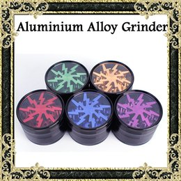 Wholesale Top Quality Grinders mm Aluminium Alloy Grinders With Clear Top Window Lighting Tooth Pieces Grinder Colors