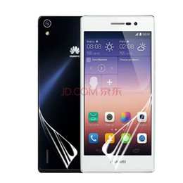 Wholesale for Huawei Ascend P7 Clear Screen Protector Guard Film Front and Back A B with Retail Packing Sets