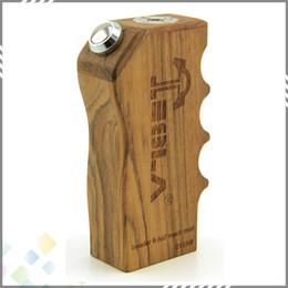 Wholesale Vaporizer Tesla Invader II Wood Box Mod Invader Invader V2 two Colors half Mechanical Mod ohm A current Safest E Cigarette