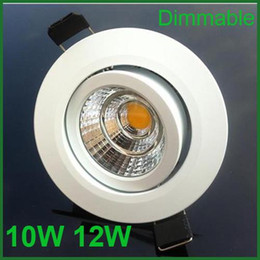 Luces para techo de dormitorio online-COB LED Downlight 10W 12W Epistar Dimmable empotrado abajo luz España estilo dormitorio LED lámpara de techo + conductor 3 años de garantía