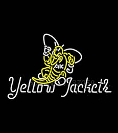 Wholesale Aic Yellow Jackets Alternate Neon Sign Avize Dallas Cowboys Jers Neon Sign Real GlassTube Handicraft Present Beer Bar Lamp