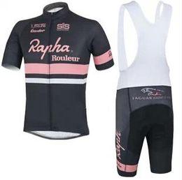 Wholesale Rapha Cycling Jerseys Sets Cool Bike Suit Bike Jersey Breathable Cycling Short Sleeves Shirt Bib Shorts Mens Cycling Clothing