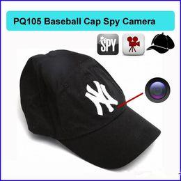 Caméscopes mini- en Ligne-8GB Chapeau caméra espion Baseball Cap Hat caméra cachée caméscope avec télécommande extérieure Mini DVR enregistreur vidéo PQ105