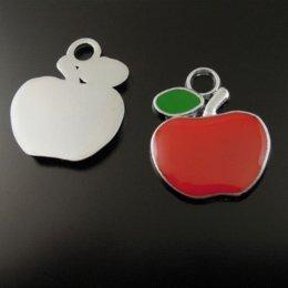 37052 Wholesale lovely apple enamel pendant charms 20pcs pendant shade charm cartoon charm cartoon