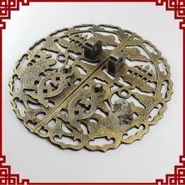 Wholesale Classic mahogany furniture pieces of copper metal door handle door lock card Chinese antique