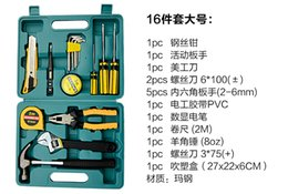 Wholesale-16 pcs set largel size Car repair kit car emergency kit combination household tool set package of automotive supplies Specials