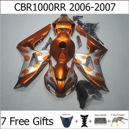 Wholesale Fresh Orange Silver CBR1000RR Motorcycle Fairing Kits For Honda CBR RR Injection Mold Custom Painting Free Gifts