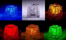 New LED Ice Cubes Flash Light,wedding Party light ice,crystal Cube color flash,Christmas gifts