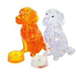 Interesting 3D Crystal Puzzle Jigsaw Dog Model Home Decoration Kids Toys Toys 41 pcs