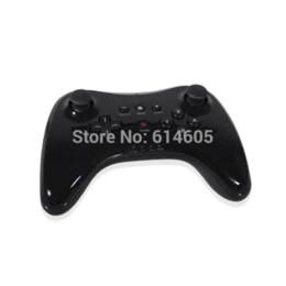 Black Pro controlador inalámbrico Pro para Nintendo Wii U Gamepad Consola de control inalámbrico usb inalámbrico winch control remoto desde extensión del controlador proveedores