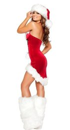 Wholesale Erotic Christmas Santa costume SFC094 Hot Sale adult sexy story costume