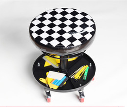 Wholesale Car wrap apllication small seat car repairing chair round Atmospheric Perssure Swivel Chair with wheels MX