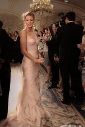 2015 Vintage Evening Dresses One Shoulder Champagne Tulle Tiered Blake Lively Sheer Formal Gowns Gossip Girl Season 5 Dress