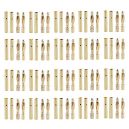 Wholesale 2 MM MM Gold Bullet Banana Connector Plug for Drone Rc helicopter Airplane Quadcopter