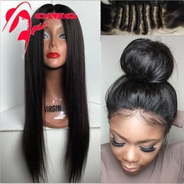 Wholesale Full Lace Wigs Lace Front Wig For Black Women Human Hair Wigs Hot A Silk Straight Brazilian Virigin Hair Wig