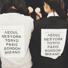 Wholesale CIYEBABY harajuku letter around city of Soul Paris London women s fleece retro hoodies for women sport suit
