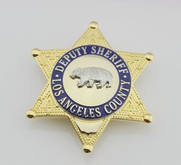 Wholesale Losangeles County United States Deputy Sheriff Bear Badge Replica High Quality Police Metal Badges