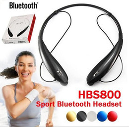 Wholesale bluetooth Headset Wireless Bluetooth Stereo sport neckband Headset Earphone Handsfree in ear headphone HB with Retail