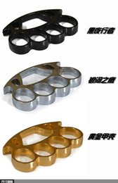 Wholesale Big Size Thick Steel Brass Knuckle Dusters Belt Buckle Black