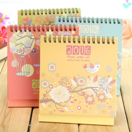 2016 Desktop Calendar Memo Schedule Table Agenda Dream Flower Desk School Office Home Decoration 18.5cm x 13cm