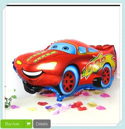 Wholesale Good Quality Red Color Car Foil Balloon Helium Balloon Cartoon Car Balloons Wedding or Birthday Decoration Toy