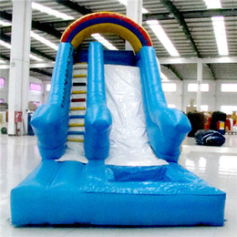 Wholesale AOQI novel design indoor or outdoor water slide extreme quality huge Rainbow Water Slide factory price slide from China for amusement park