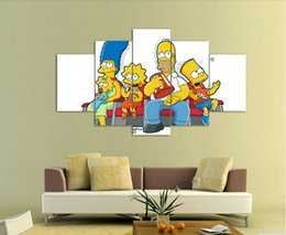 Wholesale Framed Printed Cartoon simpsons Group Painting wall art children s room decor print poster picture canvas F