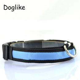 Wholesale Pet Collar For Dog Glow Necklace Pet Shop Dog Products For Animals Puppy Collar LED Perro Cachorro Lighted LED Dog Collar