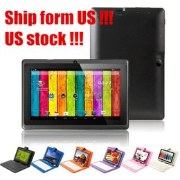 Wholesale Stock in US UK Q88 Inch Tablet PC Android Tablet PC GB A33 Quad Core quot Tablet PC