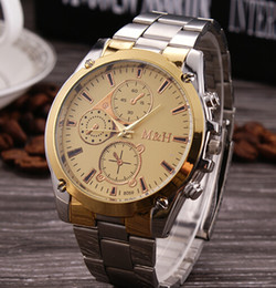 Wholesale Mens Quartz Full Steel Watch Women Luxury Mechanical Automatic Watches Casual Dress Ladies Wrist Watch Golden Dial Alloy Watch hot
