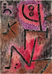 Wholesale After annealing Paul Klee Art Painting on Canvas High quality Hand painted
