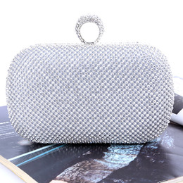 Factory-direct Retaill Wholesale brand new handmade unique diamond evening bag clutch with satin for wedding banquet party porm(more colors)