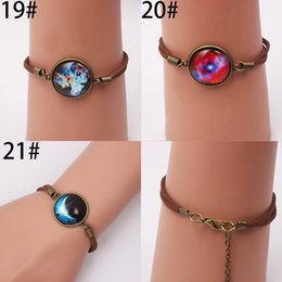 Wholesale 2015 New Design Pure hand Infinity Bracelets Brand Round Flower Moon Stars Copper With Rhinestones Snap Button Charm Bracelet