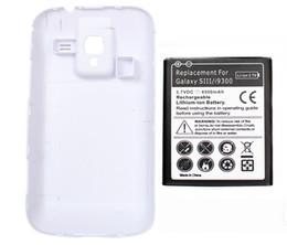 4500mAh la galaxie S3 a étendu la batterie de téléphone portable avec l'affaire de contre-coque pour la galaxie SIII S3 GT-i9300 i747 de Samsung libèrent le bateau à partir de prolongée boîtier de la batterie de galaxie fabricateur