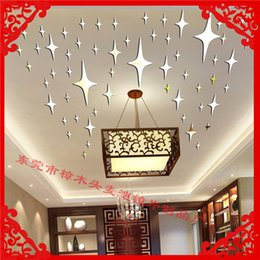 Wholesale Produce Stereo Surface mirror wall stickers ceiling decoration mirror sticker acrylic d mirror sticker