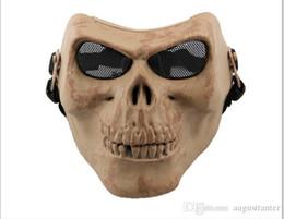 M02 CS equipment field full face skeleton party horror cartoon mask Halloween Masquerade mask male Venice Italy flathead lace Mask 2015