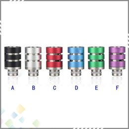 Wholesale 510 Drip tips Adjustable Airflow Aluminum SS Drip Tip for Electronic Cigarette Tank Atomizer Beautiful Color with exquisite design DHL Free