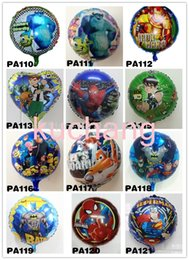 Wholesale Hot set iron man superman ben balloons cartoon hero batman balloon boy birthday decorations foil balloon classic toy
