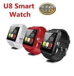 Bluetooth Smartwatch U8 U Watch Smart Watch Wrist Watches for iPhone 4 4S 5 5S 6 Samsung S4 S5 Note 2 3 HTC Android Phone Smartphones VS M9