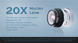 Wholesale X Macro lens Mobile Phone Camera Lens Professional Super Macro X for iPhone S C Lense with Plate lens for iphone APE X
