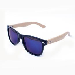 Promotion fille chat cru Filles Lunettes de gros-Bambou Cadre Sexy Cat Eye Sunglasses Résine Femmes Coating 4 Couleur Marque femme millésime